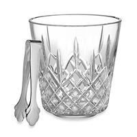 Lismore Ice Bucket with Tongs by Waterford Crystal