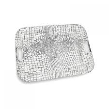 CROC Medium Rectangular Tray with Handles by Beatriz Ball