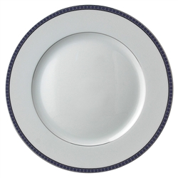 Athena Navy Dinner Plate by Bernardaud