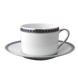Athena Navy Tea Saucer by Bernardaud
