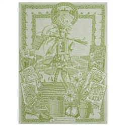 Potager Water Tea Towels by Le Jacquard Francais