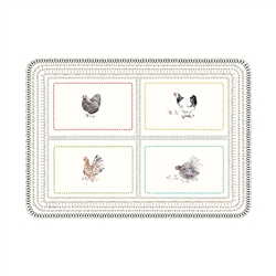 Coquettes Small Acrylic Tray by Gien France