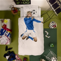 Soccer Champ Blue Duvet Cover by SNURK