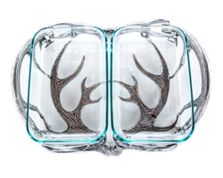 Antler Pyrex Holder Double (2 Qt) by Arthur Court Designs