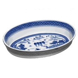 Blue Canton Oval Baking Dish by Mottahedeh