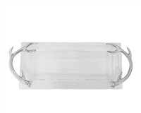 Antler Glass Oblong Tray by Arthur Court Designs