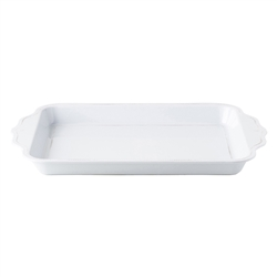 "Al Fresco Berry and Thread White 24"" Handled Serving Tray by Juliska"