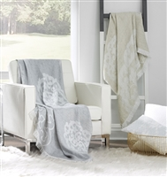 Lassia Grey Throw by SFERRA