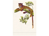 Anali - Jaguar on White Linen Guest Towel