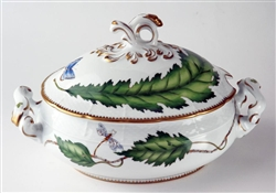 Green Leaf Oval Tureen by Anna Weatherley
