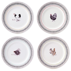 Coquettes Dessert Plates (Set of 4) by Gien France