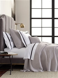 Selah Anthracite King Coverlet by Matouk