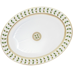 "Constance Green 17"" Oval Platter by Bernardaud"
