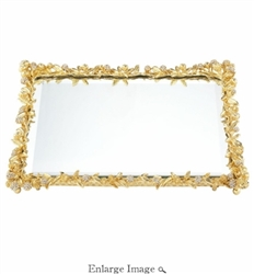 Olivia Riegel - Gold Cornelia Beveled Mirror Tray