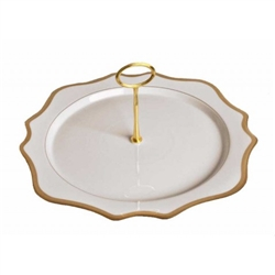 Antique White with Gold Charger Plate Tray by Anna Weatherley