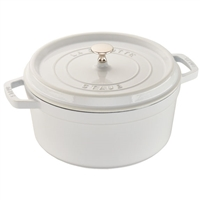 Cast Iron 5.5-qt Round Cocotte White by Staub
