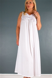 Batiste Long Gown White (Small) by Verena