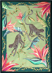Monkey Paradise Delta Tea Towel by Ardmore