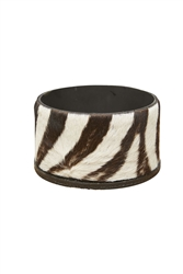 Zebra Hide Wine Holder by Ngala Trading Co.