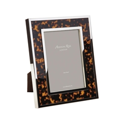 "Faux Tortoise Silver Frame  (5""x7"") by Addison Ross"