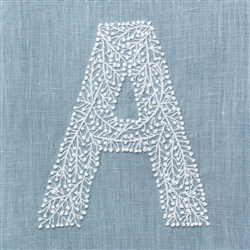 Monogram Twig Hand Towel Sky Blue by Henry Handwork