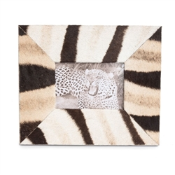 Zebra Hide Photo Frame by Ngala Trading Co.