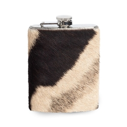 Zebra Hide Hipflask by Ngala Trading Co.