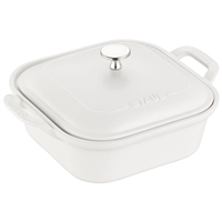 Ceramic Square Covered Baking Dish White by Staub