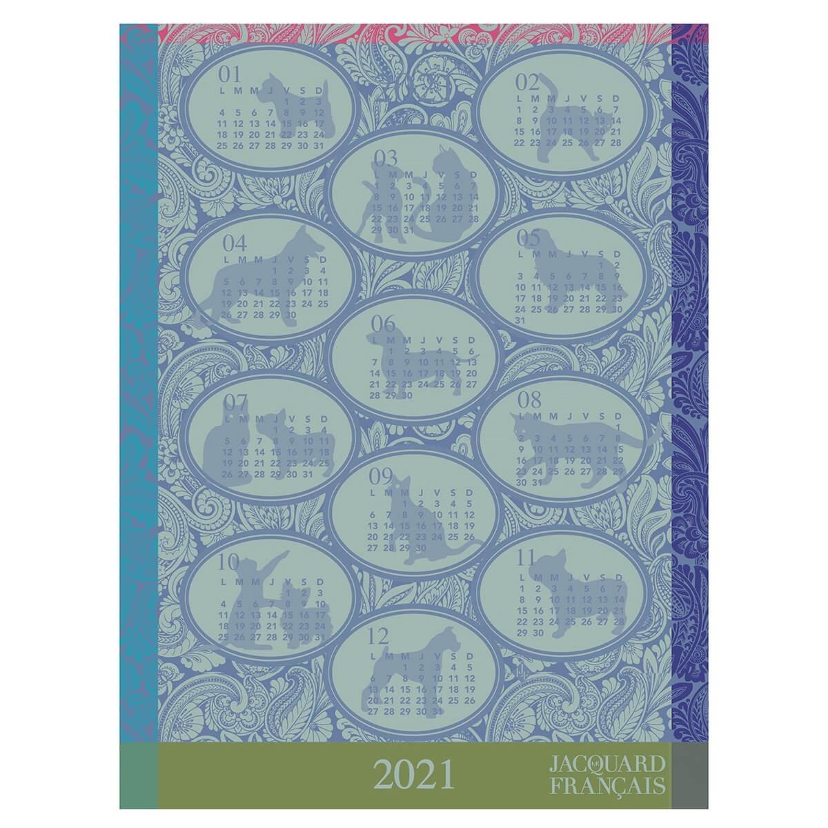 Le Jacquard Francais 2021 Calendar Tea Towel