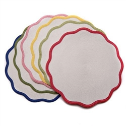 "16"" Border Scallop Placemat by Deborah Rhodes"