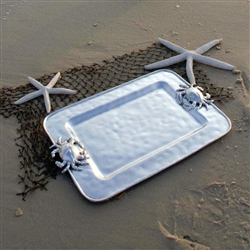 Ocean Crab Rectangular Platter (Medium) by Beatriz Ball