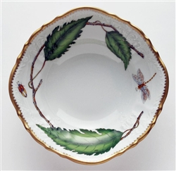 Green Leaf Open Vegetable Bowl (Round) by Anna Weatherley