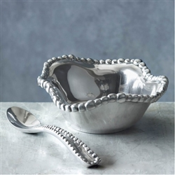 Organic Pearl Petit Bowl with Spoon by Beatriz Ball