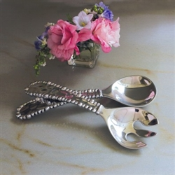 Organic Pearl Salad Servers by Beatriz Ball