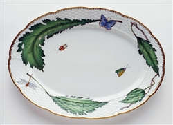 Green Leaf Oval Platter by Anna Weatherley