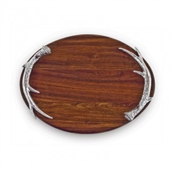 Western Antlers Oval Cutting Board - Beatriz Ball