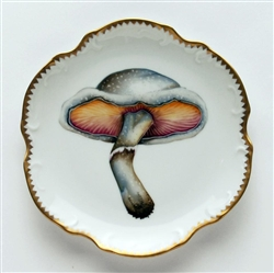 Mushroom #1 Hors D'Oeuvre Plate by Anna Weatherley