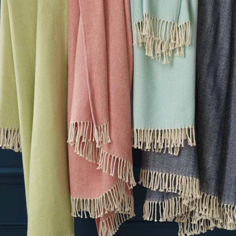 SFERRA Celine Fringed Throw New Sferra Throw Blanket