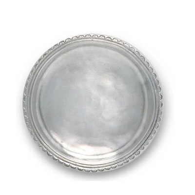 Scallop Rim Bottle Coaster by Match Pewter