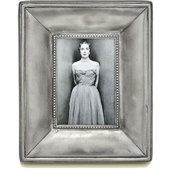 Como Small Rectangle Frame by Match Pewter