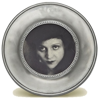 Como Small Round Frame by Match Pewter