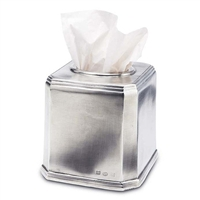 Dolomiti Square Tissue Box by Match Pewter