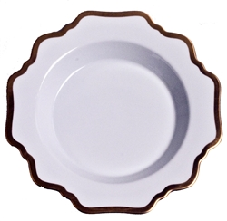 Antique White Rim Soup Plate by Anna Weatherley