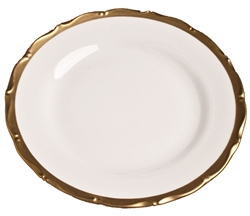 Anna's Golden Patina Dinner Plate by Anna Weatherley