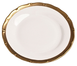 Anna's Golden Patina Bread and Butter Plate by Anna Weatherley