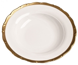 Anna's Golden Patina Rim Soup Plate by Anna Weatherley