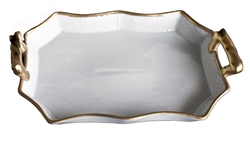 Anna's Golden Patina Tray with Handles by Anna Weatherley