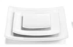 Oxygene Blanc Big Square Dinner Plate by Medard de Noblat