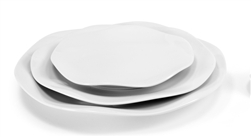Gala Blanc Charger Plate by Medard de Noblat