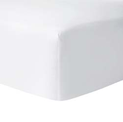 Athena Blanc (White) Fitted Sheet by Yves Delorme
